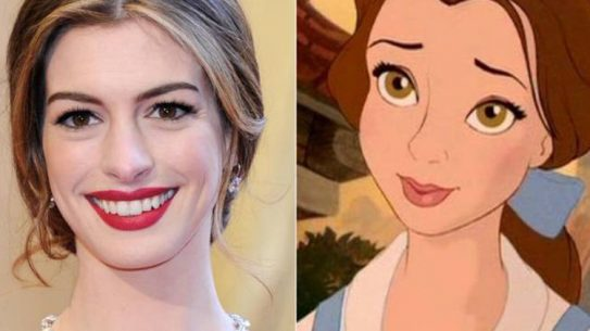 Anne Hathaway and Belle